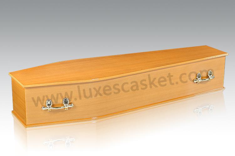 LUX Basic Coffin-A12(Oak Paper)——China Casket, Wooden Casket, Coffin